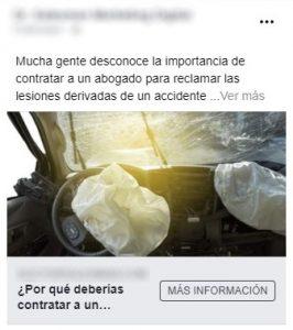 anuncio facebook para abogados