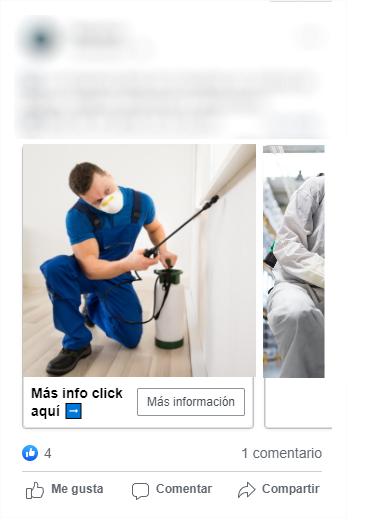 anuncios de facebook enfocados a empresas control de plagas