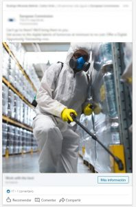 Control de plagas, anuncios de linkedin enfocados a empresas